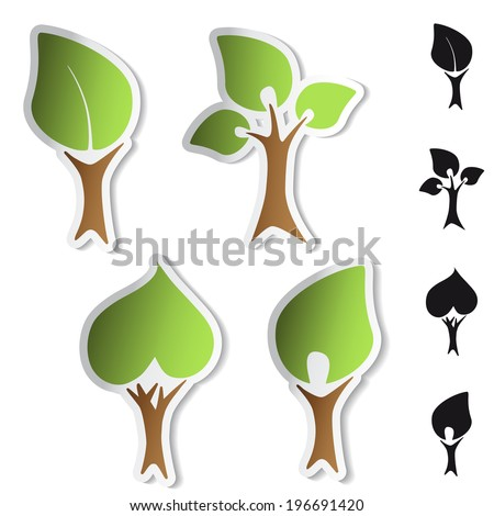 tree stickers - bio symbols