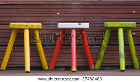 tree stool - stock photo