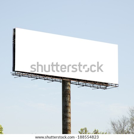 Trees and billboards