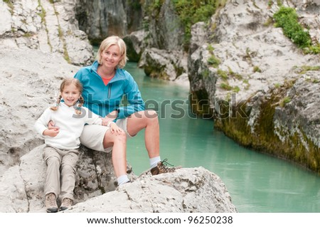 Trekkers - family on mountain trek
