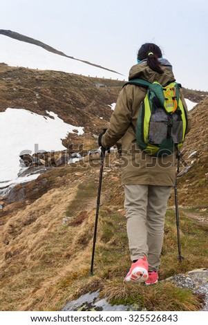 Trekking in the Alps. Grossglockner High Alpine Road