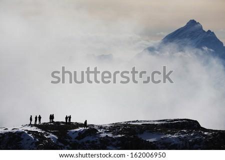 Trekking in the Dolomites, Italy, Europe - stock photo