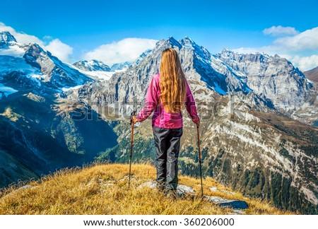 Trekking in the Himalayas, Nepal - stock photo