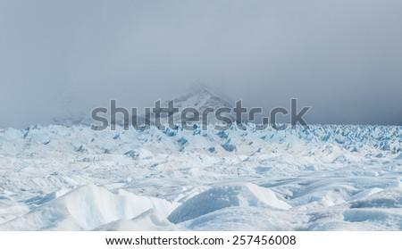 Trekking on Perito Moreno Glacier, Patagonia, Argentina - stock photo