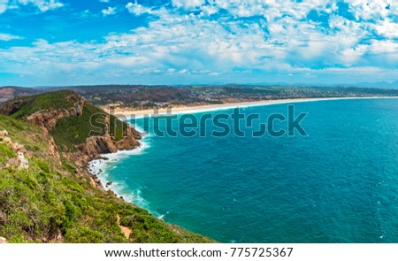 Tremendous Robbberg nature reserve coastline at Plettenberg bay South Africa