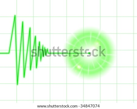 Tremor chart statistic with lines on white background. - stock photo