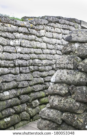 Trench of Dead - Diksmuide - Belgium - stock photo