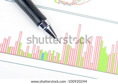 Trend graph - stock photo