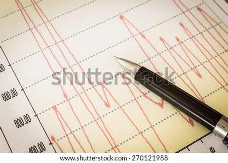 trend of the stock - Business Concept - stock photo