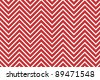 Trendy chevron patterned background red and white - stock photo