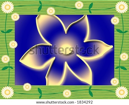 trendy frame flower