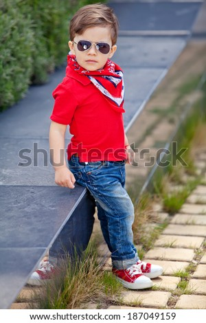 trendy small boy stock photo edit now 187049159 shutterstock