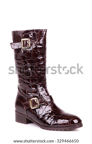 trendy women boot isolated on white background