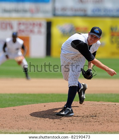 TRENTON, NJ - JULY 31: Trenton Thunder relief pitcher Craig Heyer delivers a pitch during a game against the Richmond Flying Squirrels on July 31, 2011 in Trenton, NJ.