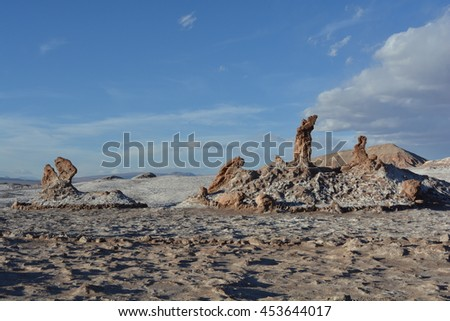 Tres Marias geological formation at Atacama Desert, Chile