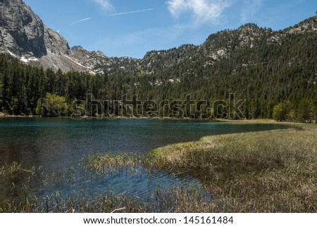 Trescuro lake's in the National Park of Aiguestortes and Sant Maurici in the Pyrenees, Catalonia, Spain