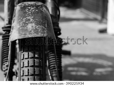 Tresnjevac,Serbia - March 13th,2016: Photoshoot of NSU OSL 251 motorcycle from 1951,in front of the garage in small village Tresnjevac,Serbia.Closed and fully sealed cylinder head introduced in 1938.