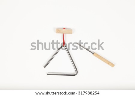 Triangel musical instrument isolated - stock photo