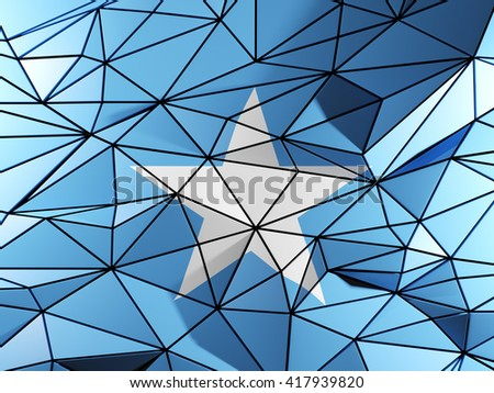 Triangle background with flag of somalia. 3D illustration