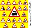 Triangle Road Signs - stock photo