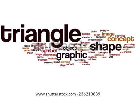 Triangle Word Cloud Concept Stock Illustration 236210839 Shutterstock