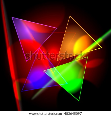triangles on dark background