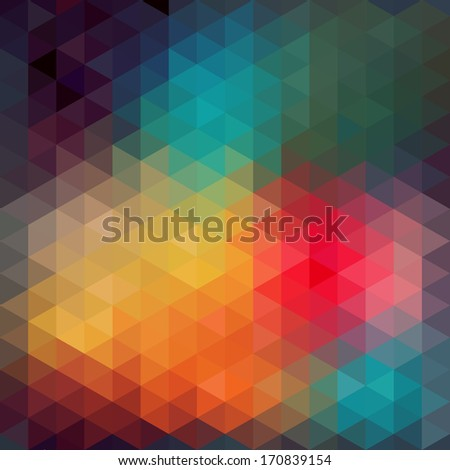 Triangles pattern of geometric shapes. Colorful mosaic backdrop. Geometric hipster retro background, place your text on the top of it. Retro triangle background. Backdrop. Triangle