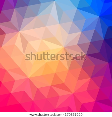 Triangles pattern of geometric shapes. Colorful mosaic backdrop. Geometric hipster retro background, place your text on the top of it. Retro triangle background. Backdrop - stock photo