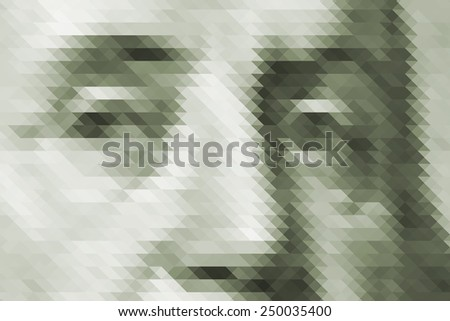 Triangular abstract texture of USA dollar - stock photo