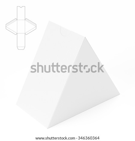 Triangle box template stock images royalty free images for Triangle packaging template