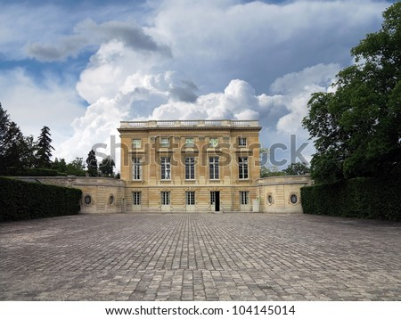 Trianon, Marie Antoinette's residence at Versailles, France - stock photo