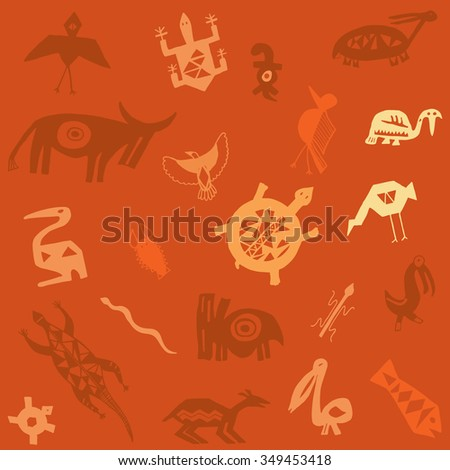 Tribal animals - stock photo