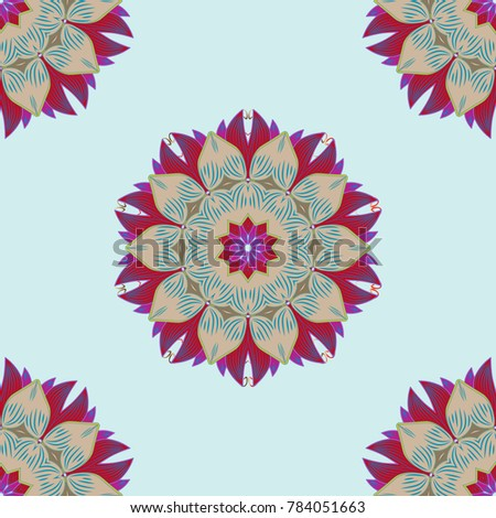 Tribal Art Boho Print Vintage Flower Background Texture Wallpaper Floral Theme