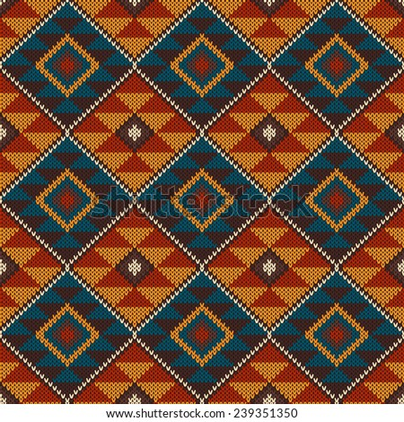 Tribal aztec pattern on wool knitted stock illustration 239351350 tribal aztec pattern on the wool knitted texture seamless background knitting pattern dt1010fo