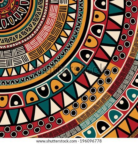 Tribal ethnic background, abstract art - stock photo