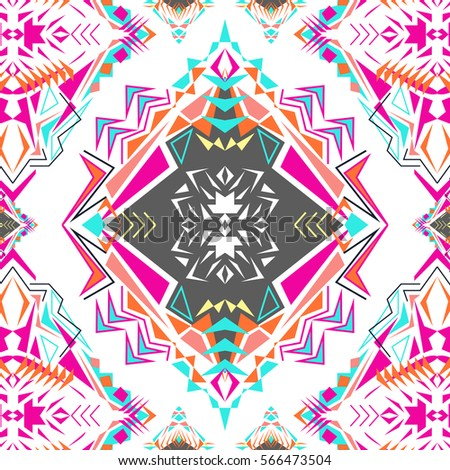electro boho color trend aztec ornamental style ethnic native american - Native American Pictures Color