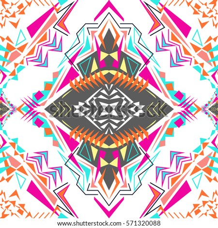 vector seamless texture tribal geometric pattern stock vector ... - Native American Pictures Color