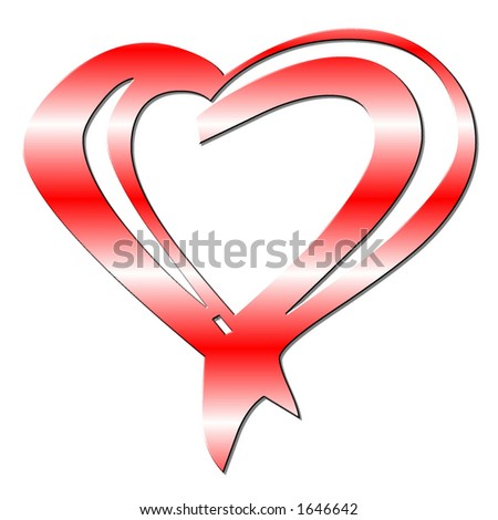 Tribal Heart - stock photo