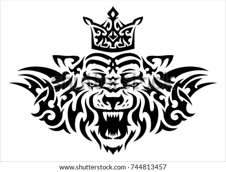 Tribal tiger stock images royalty free images vectors for Higher ground tattoo