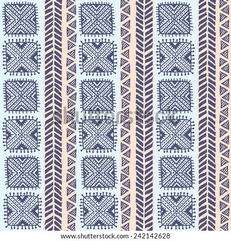 Tribal vintage ethnic seamless for your business - stock photo