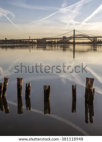 Triborough Bridge, known officially as the Robert F. Kennedy Bridge - stock photo