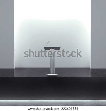 tribune in modern interior - stock photo