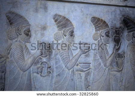 Tribute Bearers (Lydians)	 [capital city of Persian empire, Darius ]	Persepolis, 	Iran, Middle East