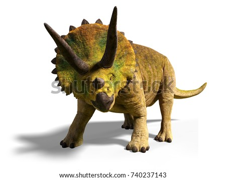 triceratops horridus of the late cretaceous period between 66 and 68 million years ago 3d