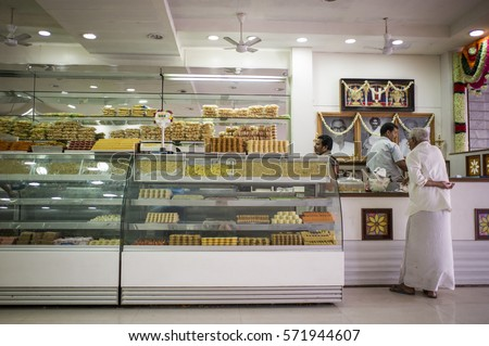 Ordinaire TRICHY, INDIA   August 10 2012: The Staffs In A Famous Bakery In The