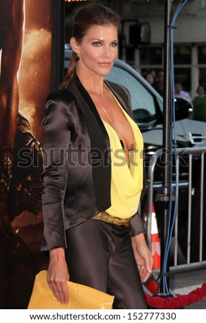 """Tricia Helfer at the """"Riddick"""" Los Angeles Premiere, Village Theater, Westwood, CA 08-29-13 - stock photo"""