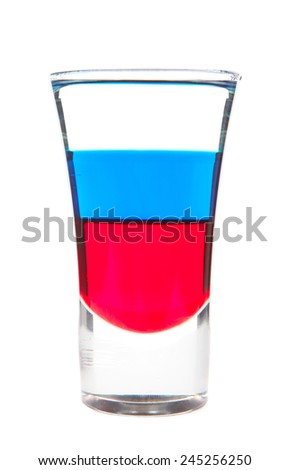 tricolor cocktail glass Russian vodka flag