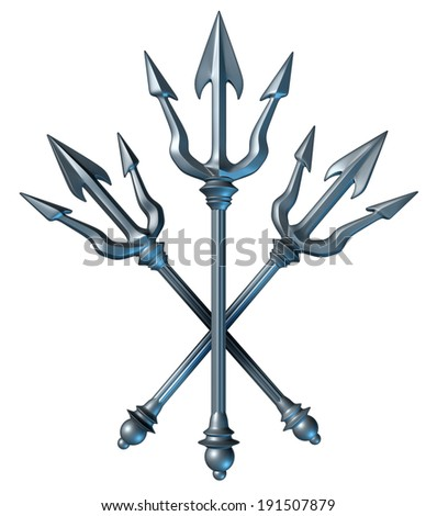 Trident Concept Group Metal Spears Design Stock Illustration