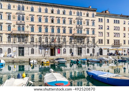 Trieste,Italy on 22nd Sept 2016:The museum was founded in December 1924 by the will of Carlo Schmidl, music publisher and collector, and hosted in the Opera House Giuseppe Verdi in Trieste