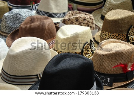 Trilby Hats - stock photo